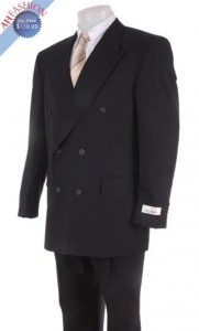 Italian Made Double Breasted Suit 100% High Twist Virgin Wool