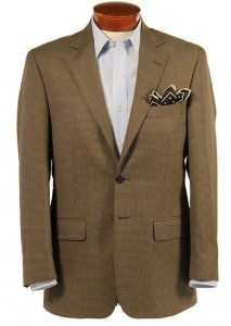 BRISTOL BLACK & TAN CHECK WOOL BLEND SPORT COAT - CLASSIC FIT