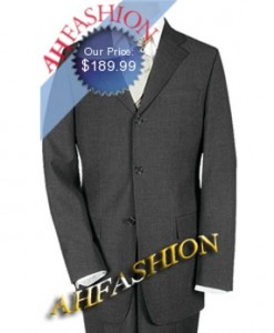 Italian Made Charcoal 3-Button Suit Super 140's Actual Wool