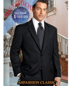 799.99 2 Button Navy Pinstripe Amazing Quality S150's Wool Now Only $188.99