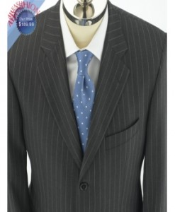Charcoal Pinstripe English Mens Suit in 3-Button