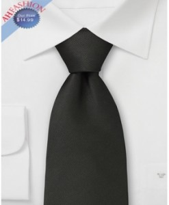 100% Silk Tie Formal Black by AHFASHION