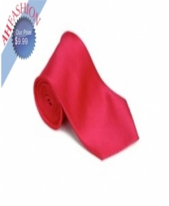 Hot Pink Solid Necktie