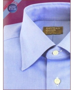 100's 2 Ply Covert Twill, 100% Cotton Gitman Dress Shirts