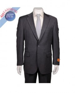 Men's Charcoal Grey 2-button Suit