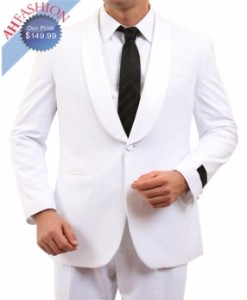 One Button Tuxedo with Satin Shawl Collar