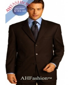 Extra Long Dark Brown Men Suit in Super 150's Italian Wool Suit AHFashion Exclusive Line, Vented