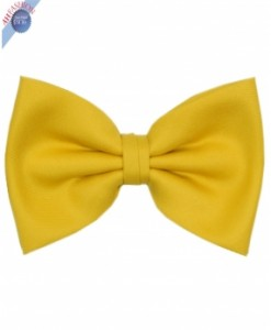 Silk Sunshine Yellow Bow Tie