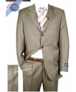 Beautiful Taupe Shark Skin Suit
