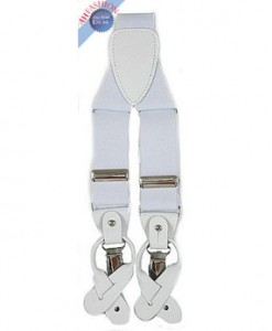 Men's White Suspender