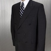 Super 120's Double Breasted Charcoal Suit