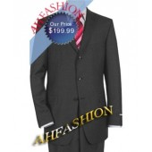 Medium Charcoal AHF Exclusive Suit, 100% Wool, 3 Button