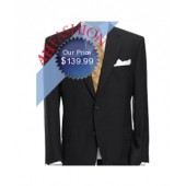 Executive Men's Olive Green 2-Button Suit Made from Super High Twist English Wool