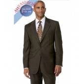 Men's Brown 3 Button Polyester Suit 100% High Twist Wool Touch Now On Sale $129.99