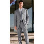 Men's Suits Light Gray ( Perfect Gray) Shade in 3-Button + Free Tie