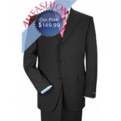 Men's Charcoal Gray Suit in Super 150's Wool Made In Italy