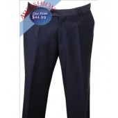 Men's Giorgio Fiorelli Dress Pants Solid Navy Non Pleated