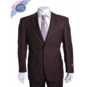 Giorgio Fiorelli Suit Brown 2 Button Vented Non Pleated Pants Suit