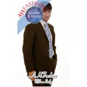 $899.99 Chocolate Brown Mens Pick-Stitched Italian Suit Now on Sale $199.99
