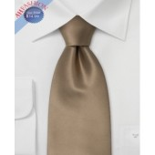 100% Silk Tie Light Brown Tie