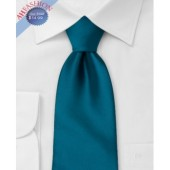 100% Silk Teal Tie by AHFASHION