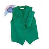 Emerald Green Vertical Tone on Tone Tuxedo Vest Set by Vesuvio Napoli