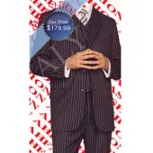 $899.99 Almost Sold Out Mens Black Pinstripe Super 150s Wool 3 Button Wool Suit