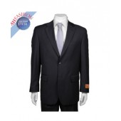 Men's Solid Black 2-button Suit