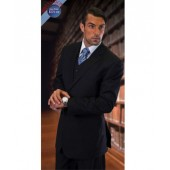 Tzarelli Ahfashion Uomo 2-Button Navy Suit with Vest