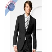 Stylish One-Button Black Suit by AHFASHION