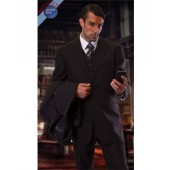 CLASSIC 3PC 2 BUTTON BLACK MENS SUIT BY TZARELLI Fironi