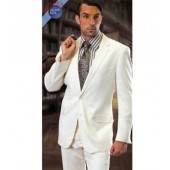 Slim FIt Off-White Suit by Tzarelli
