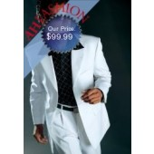 Men's 3-Button White Suit Made From Super 100s High Twist. Perfect for Year Round Wear