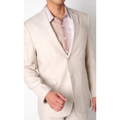 Mens Linen Jacket Natural