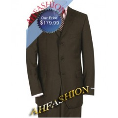 $1299 Beautiful Brown Wedding Suit, 3 Button Style, Vented Suit Now On Sale