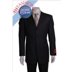 Mantoni Uomo Charcoal Gray 3 Button Vented 1 Pleat Wool Suit