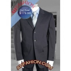 Tessori Uomo Super 150's Wool Charcoal Gray Suit Italian Suits 20006 Collection