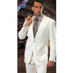 CLASSIC SLIM FIT 2PC 2 BUTTON OFFWHITE MENS SUIT BY TZARELLI . SUPER 150'S EXTRA FINE ITALIAN FABRIC