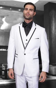 White Two Toned Mens Suit Many Colors Wedding Suit