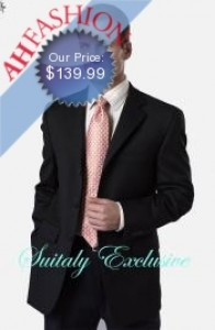 Black 3-Button Super 150s Wool Suit on Sale for Only 139.99