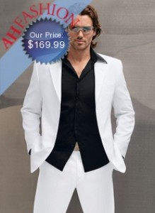 $1199.99 Italian Men's White Suit Made from Super 150's High Twist Wool Now On Sale