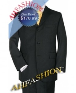 Business Black Suit Light Weight Wool, Amazing Quality, High Twist Wool