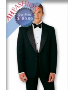 One Button Tuxedo Student Special! Look Your Best With this Complete Package! Tuxedo Jacket + Pants + Tuxedo Shirt + Bowtie Only $189.99