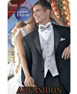 2 Button Tuxedo Super 150's Actual Wool 100% Hand Tailored Italian Tuxedo, Satin Lapels, Satin Lined Trousers, Private Label. Only $169.99