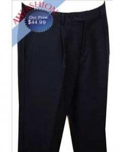 Men's  Giorgio Fiorelli Dress Pants Solid Navy 1 Pleated Pants
