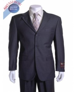 Giorgio Fiorelli Suit Charcoal 3 Button Vented with 1 Pleated Pants