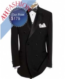 Double Breasted Tuxedo Super High Twist Wool Now On Sale for $179.99