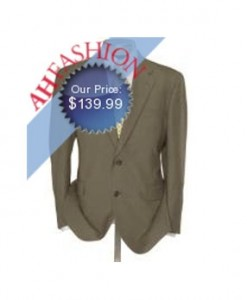 AH Fashion 2-Button Men's Tan Flap Pocket Pleated Tan Suit