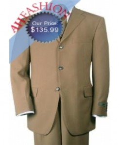 Tan 3 Button Suit, Beautiful & Classic 100% Virgin Wool Men Suits