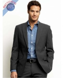 Mens One button Classic Charcoal Suit